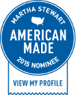 Martha Stewart - American Made 2015 - Nominee Badge