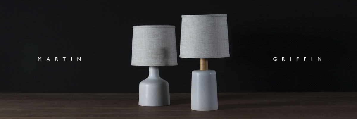 The Martin and Griffin table lamps