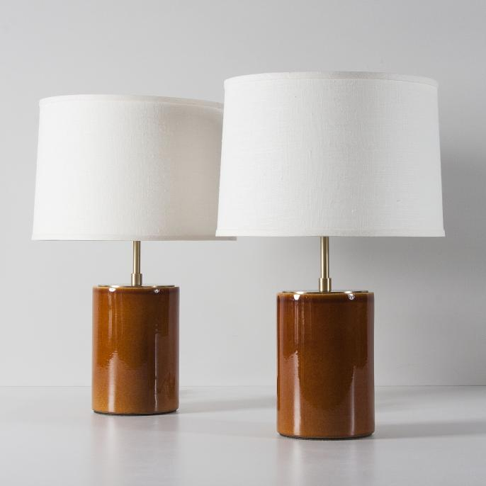 fairfax lamps in coffee stone and sawyer